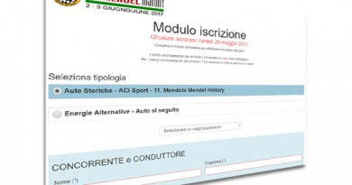 Iscrizione Online – Online Application Form
